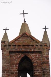 Kuźnica   szczyt kapliczki św. Antoniego   od południowego-zachodu   stan na 2013-12-12