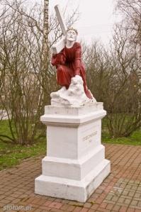 Papowo Toruńskie | figura Chrystusa Upadającego | od południowego-wschodu | stan na 2013-03-27
