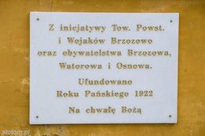 Brzozowo | kapliczka Matki Boskiej Królowej Polski | fragment | od zachodu | stan na 2016-03-31