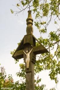 Sierpc   krzyż przydrożny ze wsi Zimolza   fragment   od zachodu   stan na 2015-05-31