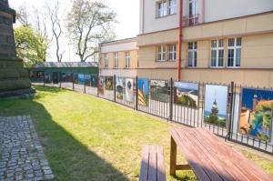 Gdańsk - Nowy Port | fragment ekspozycji obok latarni | 2016-05-08