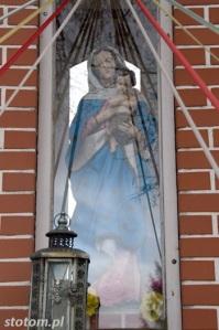 Młyniec Pierwszy | kapliczka Matki Boskiej | fragment | od północnego-wschodu | stan na 2016-03-18
