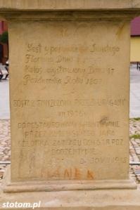 Bodzentyn | figura św. Floriana | fragment | stan na 2016-07-18