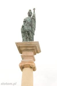 Bodzentyn | figura św. Floriana | fragment | od zachodu | stan na 2016-07-18