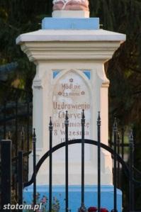 Głogowo | figura Matki Boskiej | cokół | od północnego-wschodu | stan na 2016-09-09
