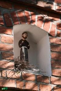 Szramowo   kapliczka   fragment   od południowego-zachodu   stan na 2016-09-15