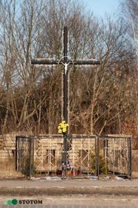 Brzozówka | krzyż | widok ogólny | od południowego-zachodu | stan na 2017-02-11