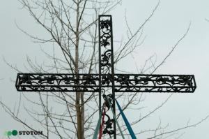 Gronowo | krzyż | fragment | od zachodu | stan na 2017-02-17